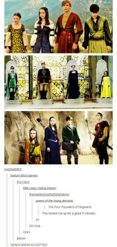 Head cannon | They're really the founders of the Hogwarts Houses.