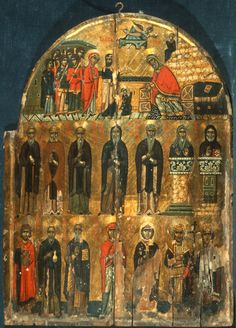 """Presentation of the Virgin (Upper)/Saints (Lower)"""
