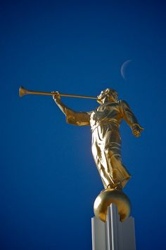 "A historical tour through LDS temple Angel Moroni statues. Statues of Moroni atop LDS Temples officially began with the one in Salt Lake City. When you get to the link, click on ""see the list"" to see more of the story."