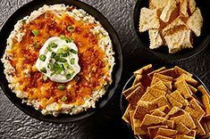 PIN Loaded Baked Potato Dip c instant potato flakes c milk 1 c Light Sour Cream c Chive & Onion Cream Cheese Spread 2 green onions, sliced, divided 1 c ShredSharp Cheddar 2 T Real Bacon Bits RITZ Toasted Chips Original Kraft Foods, Kraft Recipes, Dip Recipes, Cooking Recipes, What's Cooking, Cheese Recipes, Yummy Recipes, Healthy Recipes, Loaded Baked Potato Dip Recipe