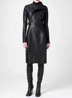 New Womens Soft Lambskin Leather Celebrity Designer Partywear Ladies Dress D-162 #LEATHERCULT #Party #Clubwear