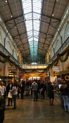 I love the inside of the ferry building
