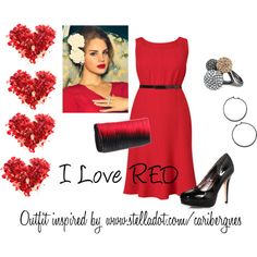 I LOVE RED by carisimastyle on Polyvore featuring polyvore, fashion, style, Dorothy Perkins, Stella & Dot, IMoshion, Jos, Truly Madly Deeply and clothing