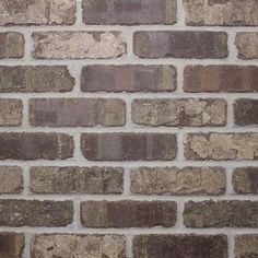 This Old Mill Brick Web Cafe Mocha Clay Thin Brick Flats cuts easily with an angle grinder or tile saw. Cuts easily with an angle grinder or tile saw. Z Brick, Brick Cafe, Brick Tiles, Whitewash Brick Backsplash, Fake Brick, Web Cafe, Thin Brick Veneer, Brick Veneer Wall, Concrete Bricks