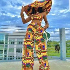 African Wear, African Attire, African Women, African Dress, African Hats, African Outfits, Latest African Fashion Dresses, African Print Fashion, Tops For Palazzo Pants