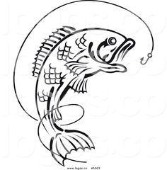 Best Bass Fish Outline #18267 - Clipartion.com