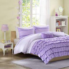 Purple bedding ideas are a popular color decor esp for a girl bedding like purple comforter sets, purple duvet cover, purple bedspreads & purple bed sheets. Girls Comforter Sets, Comforter Sets, Comforter Bedding Sets, Twin Bed Sheets, Chic Bedding, Girl Comforters, Bedding Sets, Ruffle Comforter, Twin Comforter Sets
