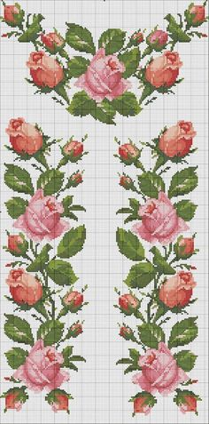 This Pin was discovered by Olg Cross Stitch Boarders, Cross Stitch Rose, Cross Stitch Flowers, Cross Stitch Kits, Cross Stitch Charts, Cross Stitch Designs, Cross Stitching, Cross Stitch Embroidery, Embroidery Patterns