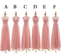 Bridesmades/MOH dress ideas, not this color but love that they are all different