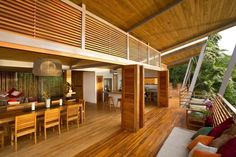 Float House is a family home designed by architect Benjamin Garcia Saxe in Puntarenas, Costa Rica. Description by Benjamin Garcia Saxe: The Gooden-Nahome fa Tropical House Design, Tropical Houses, Modern Tropical, Tropical Architecture, Interior Architecture, Houses In Costa Rica, Modern Wooden House, Wooden Terrace, Bungalow