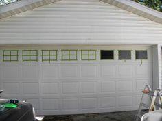 decorative faux windows on garage