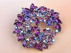Beautiful Fuchsia Violet Purple Crystal Rhinestone Wreath Floral Leaf Pin Brooch Alilang http://www.amazon.com/dp/B006LAB98K/ref=cm_sw_r_pi_dp_BR4Dvb1HB413E