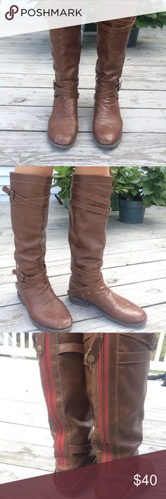 Madden Girl Zerge Boot Beautiful fall riding boot. Some small scuffs that can easily be polished over. Shoes Winter & Rain Boots