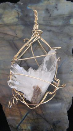 Clear decisions are yours with this cluster quartz pendant
