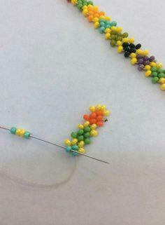 Pulsera Handmade Beads, Handmade Bracelets, Handmade Jewelry, Seed Bead Earrings, Beaded Earrings, Beaded Bracelets, Bead Jewellery, Jewelery, Hanging Beads