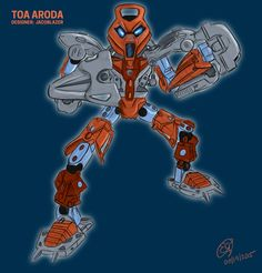 """bionicle-art-squad: """"BAS Challenge Week 35: Toa Aroda by kanohi-hau-doesfuryevenseethese I chose JacobLazer's cool MOC Toa Aroda to draw. Instead of trying to draw characters in my style, I thought..."""