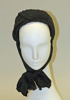 b7d417dce29 Mourning Bonnet c.1870 MET 1870s Fashion
