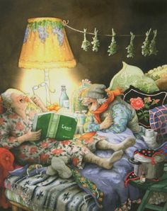 Read together, have fun together / Leen juntas, se divierten juntas (ilustración de Inge Löök)