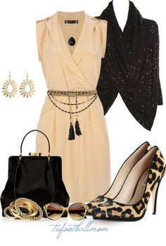 """Silk Wrap Dress"" by tufootballmom on Polyvore"