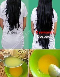 Mascarilla que hace crecer los cabellos. 2Luce un pelo largo, fuerte, lacio en cuestión de semanas.