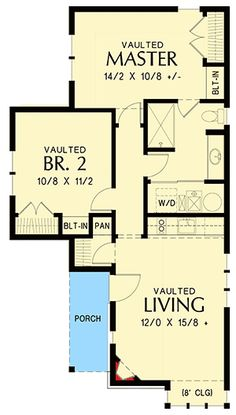 2 Bed Tiny Cottage House Plan - 69593AM   Architectural Designs - House Plans