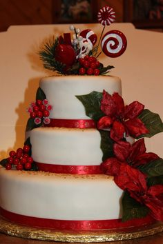 wow, what a beautiful christmas cake