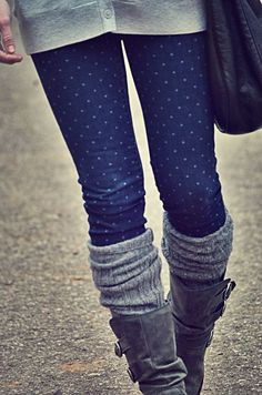 polka dot jeans, socks,  boots. could do with plan ...