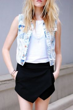 Blue Jean Babe: Denim Styles | Download the#FashEngage iPhone App in the iTunes App Store!