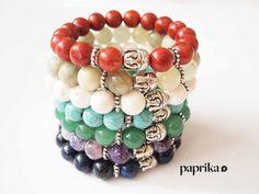 Buddha Chakra Bracelet by ThePaprikaShop on Etsy