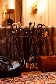 Canes from Degand: A lovely menswear shop in Brussels, as seen on The Sartorialist