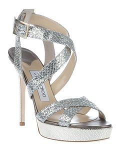 Take some style inspiration from Kate Middleton with these Jimmy Choos to go with your wedding dress.