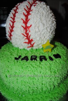 Coolest Baseball Birthday Cake... This website is the Pinterest of birthday cake ideas