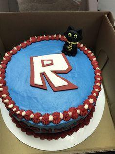 Roblox Sir Meows a lot birthday cake