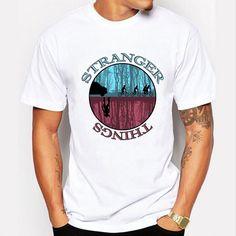 Newest 2016 Fashion Stranger Things T Shirt Men Tees Brand Clothing Funny T-shirt Novelty Cool Tops Men's Short Sleeve Tshirt