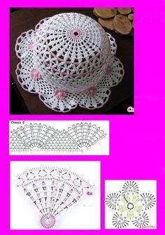 New crochet baby free hat beanie pattern 43 ideas Crochet Beret Pattern, Crochet Flower Hat, Crochet Summer Hats, Crochet Baby Hat Patterns, Crochet Cap, Baby Girl Crochet, Crochet Baby Hats, Crochet For Kids, Crochet Clothes