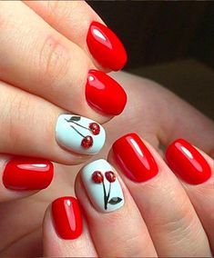 gel nail designs for spring 54 Simple Spring Nail Designs for Short Nails and Long Nails - The First-Hand Fashion News for Females Short Nail Designs, Nail Designs Spring, Simple Nail Designs, Spring Nail Colors, Spring Nails, Summer Nails, Summer Nail Art, Shellac Nails, Red Nails