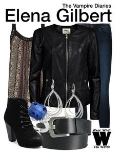 """""""The Vampire Diaries"""" by wearwhatyouwatch ❤ liked on Polyvore featuring Acne Studios, ONLY, Elie Tahari, Pieces, Blue Nile, Therapy, television and wearwhatyouwatch"""
