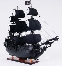 Black Pearl Pirate Ship 35 Wood Scale Model Ship  by HorizonBlue, $569.95
