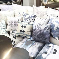 Tons of new pillows in stock now @emilysummersstudio54 in Dallas! #weekendshopping #eskayel #neverenoughpillows