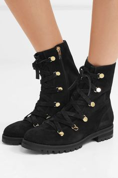 Jimmy Choo - Danity suede combat boots 8d4a30d039