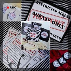 Secret Agent Spy Birthday Party Decorations by PrettyLilPartiesLV, $130.00  **Reduced Pricing**