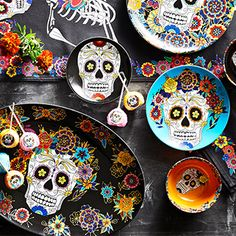 Day of the Dead Pie Mold, Sweet Carrot, Candy Bowl, Porcelain Dinnerware, Williams Sonoma, Day Of The Dead, Food Gifts, Dinner Plates, One Day