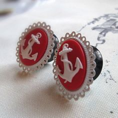 Nautical Anchor Cameo Plugs for Gauged Ears- -20mm plugs