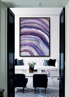 Agate Crystal Poster PRINTABLE FILE  agate slice slab by Dantell