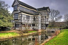 Little Moreton Hall is a moated 15th-century half-timbered manor house 4 miles (6.4 km) southwest of Congleton, Cheshire. It is one of the finest examples of timber-framed domestic architecture in England. The house is today owned by the National Trust. Photo by Shertila Tony on Flickr.