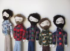 custom bearded folk man doll ~ pepperstitches @ etsy   (I love the tattooed sailors pepperstitches used to make too)