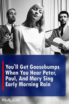 Peter, Paul, and Mary sing Early Morning Rain is music at its best. Peter, Paul, and Mary sing Morning Rain, Early Morning, Best Song Ever, Greatest Songs, Peter Paul And Mary, American Folk Music, Music Songs, Music Stuff, Music Quotes
