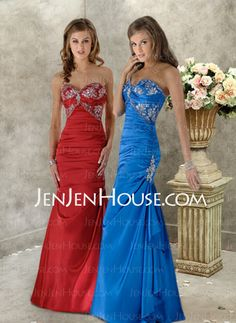 Evening Dresses - $126.99 - Fascinating Mermaid Sweetheart Floor-Length Charmeuse Evening Dresses With Ruffle Lace (017004185) http://jenjenhouse.com/Mermaid-Sweetheart-Floor-length-Charmeuse-Evening-Dresses-With-Ruffle-Lace-017004185-g4185
