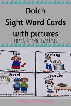 ELL students and students with language delays/low vocabularies benefit from learning sight words in context with a picture and relatable sentence!  Other grades available too.