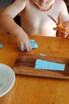 Kinesthetic & right brain engagement- Montessori ici: Montessori toddler ideas